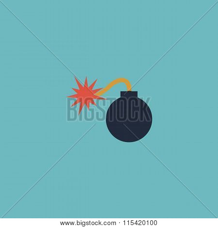 bomb icon. Flat vector illustrator Eps 10