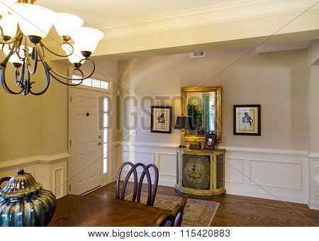Nice Foyer Past Dining Table