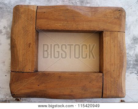 Artisanal Grained Oak Picture Frame