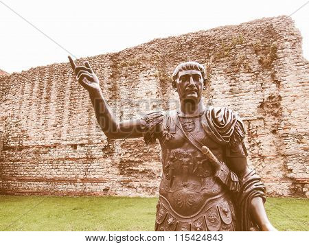 Emperor Trajan Statue Vintage