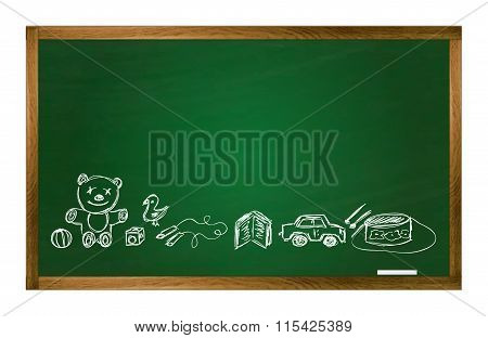 Vector School Table And Toy Pictures
