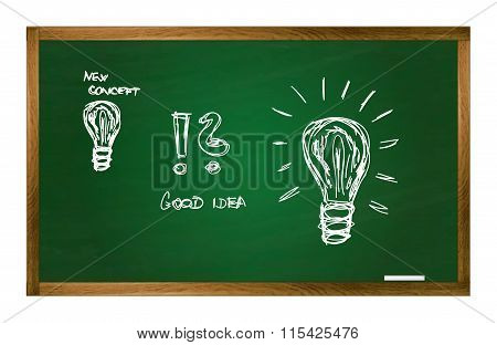 Vector School Table With New Idea Concept Pictures