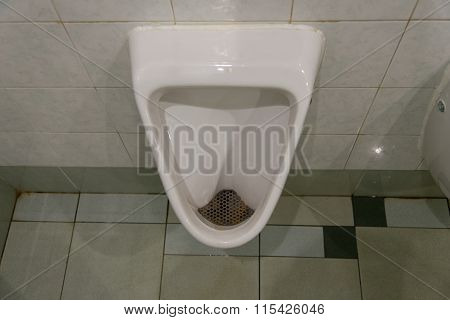 Urinal (pissoir) In Men Toilet.