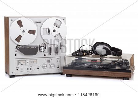 Analog Stereo Reel Tape Recorder Player