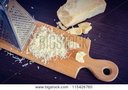 Heap Of Grated Parmesan