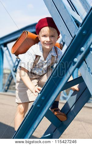 Cute French Schoolboy