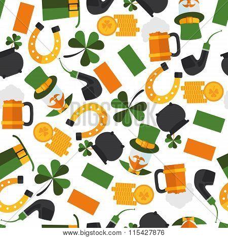 Seamless Pattern Of Saint Patrick