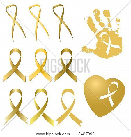 Golden Ribbon In Different Versions