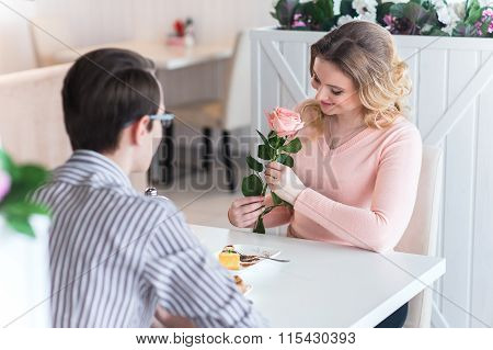 Young Happy Couple On A Romantic Date