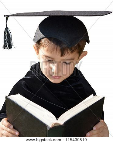 Cute Kid Graduate With Graduation Cap