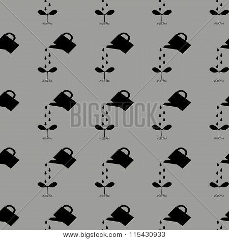 Watering Can To Water The Plants, Seamless Pattern.