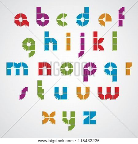 Modern Style Vector Font.