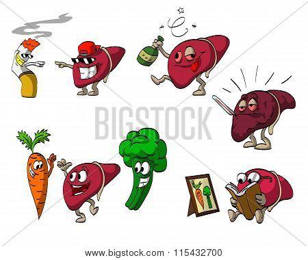 Cartoon Liver Set