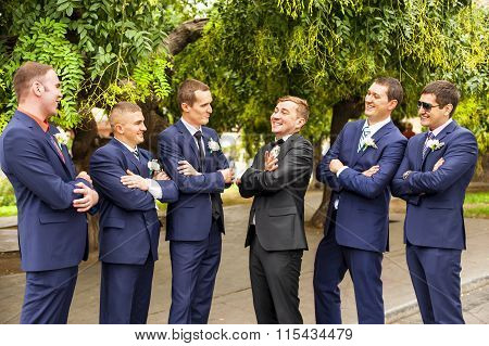 Friends of the groom.