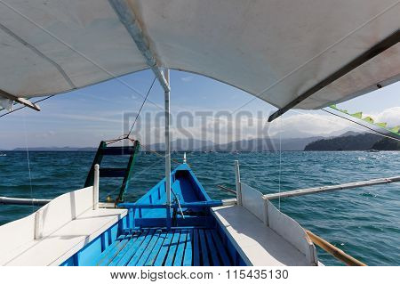 View From A Boat On The Sea Horizon