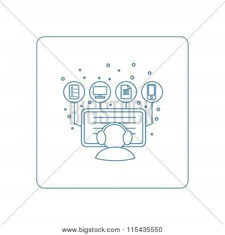 Pictogramm of computer symbols - monitoring