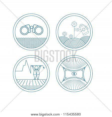 Set of round icons