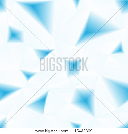 Vector blue triangular surface abstract seamless pattern