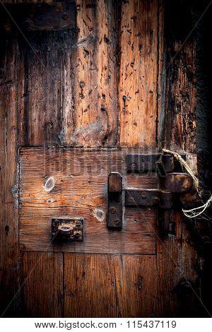 Old Wooden Door. Grunge Wood Texture