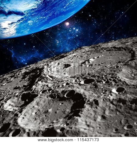 Moon surface photo.