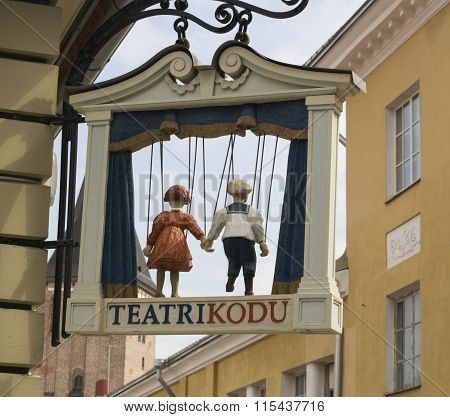 Sign Of Puppet Theater