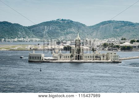 Palace on Ilha Fiscal in the harbour of Rio de Janeiro, Brazil