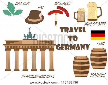 Welcome To Germany. Symbols Of Germany. Tourism And Adventure.
