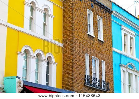 Area  In London England Old   Yellow  Wall