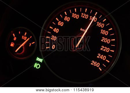 Modern Speedometer In A Car