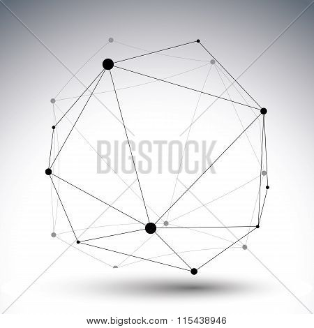 Geometric Vector Abstract 3D Complicated Lattice ??????, Single Color Messy Eps8 Conceptual Tech Ill
