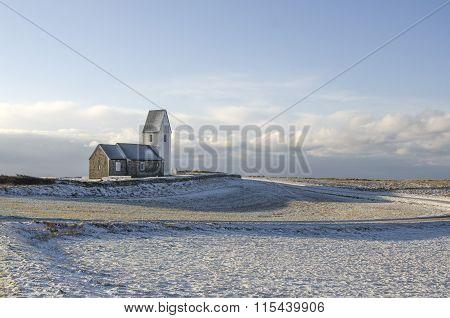 church at Trans, Denmark at winter