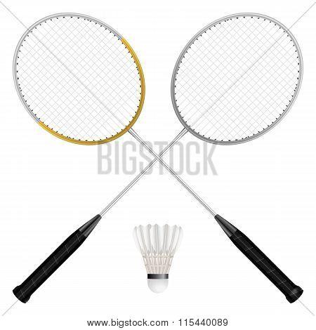 Badminton Shuttlecock And Rackets