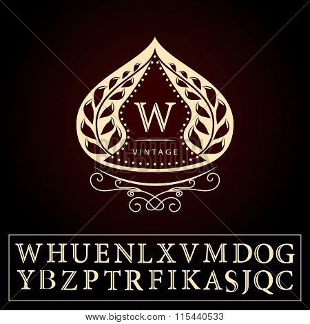Monogram Design Elements, Graceful Template. Calligraphic Elegant Line Art Logo Design. Letters Sign