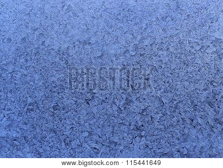 Natural Ice Pattern On Winter Glass