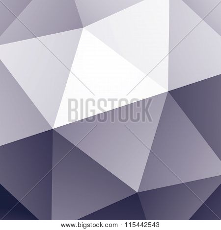 Graphical 3D technology abstract facet monochrome background