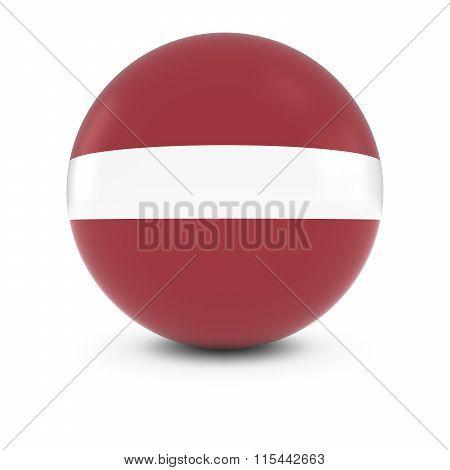 Latvian Flag Ball - Flag Of Latvia On Isolated Sphere