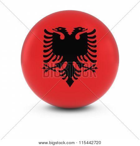 Albanian Flag Ball - Flag Of Albania On Isolated Sphere