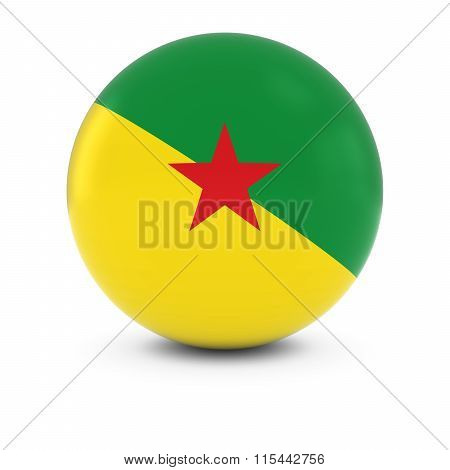 French Guianese Flag Ball - Flag Of French Guiana On Isolated Sphere