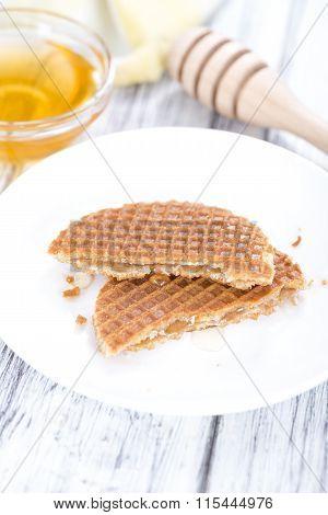 Crunchy Waffles With Honey