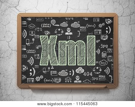 Software concept: Xml on School Board background