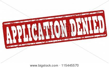 Application Denied Stamp
