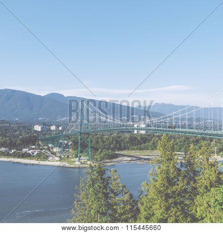 Lions Gate Bridge, Vancouver, Canada.