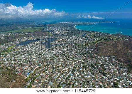 A planned residential community - an aerial near Pearl City, Oahu.