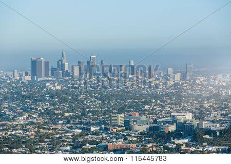 skyline of Los Angeles, USA.