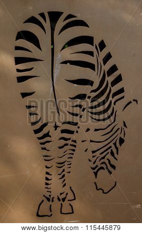 Zebra Cut Out