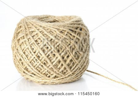 Ball Of Thread Isolated On White Background