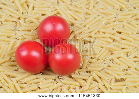 Pasta Penne with red tomatoes