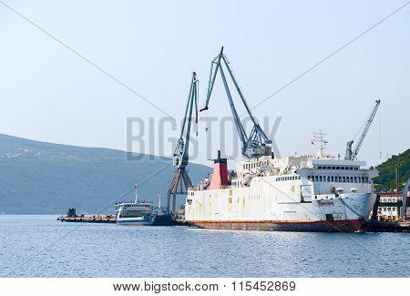 Shiprepair Plant Bijela, The Bay Of Kotor, Montenegro