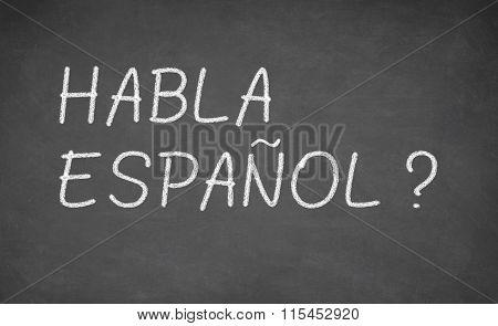 Spanish language learning concept image.