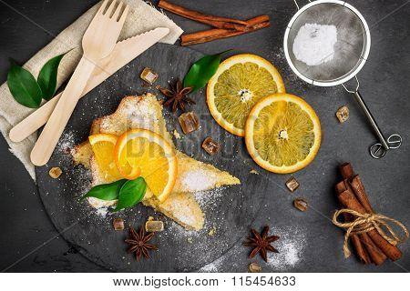 Polenta, corn and lemon butter cake